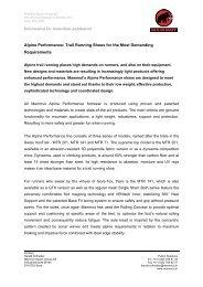 Information for immediate publication Alpine Performance ... - Mammut