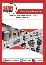 SRM Electrical Industrial Catalogue 2017