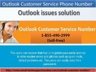 Outlook Customer Service Phone Number 1-855-490-2999 (toll-free) help of Outlook