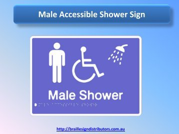 Male Accessible Shower Sign