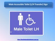 Male Accessible Toilet (L-H Transfer) Sign