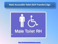 Male Accessible Toilet (R-H Transfer) Sign