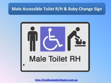 Male Accessible Toilet R/H & Baby Change Sign