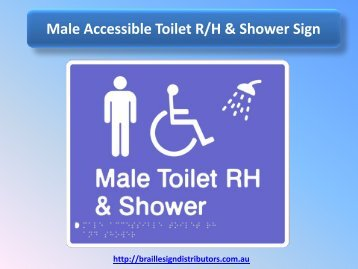 Male Accessible Toilet R/H & Shower Sign