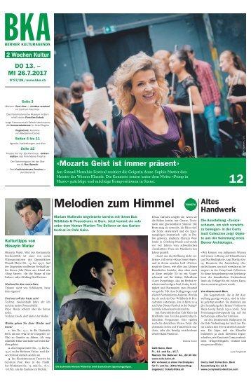 Berner Kulturagenda 2017 N° 26-27