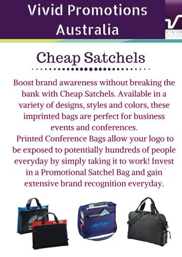 Cheap Satchels and Personalised Conference Bags