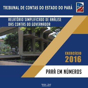 Pará em Números Exercício 2016 - TCE/PA
