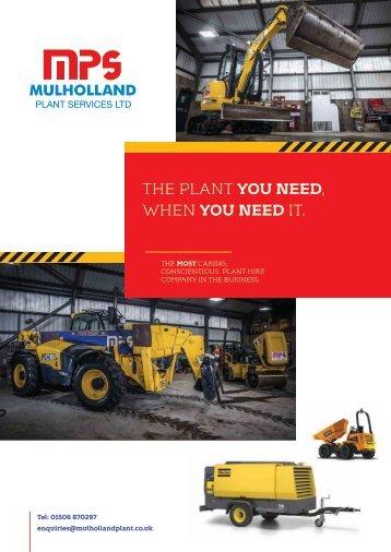 mulholland plant brochure layout