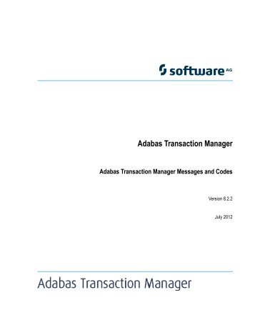 Adabas Transaction Manager Messages and Codes - Software AG ...