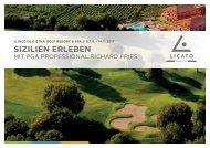 Golfreise Richard Fries Sizilien Il Picciolo 07.11.2017
