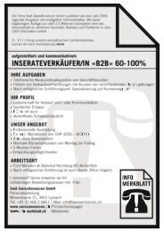 Stelleninserat Inserateverkäufer/in 60-100%