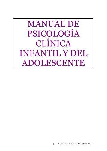 Manual de Psicologia Clinica Infantil y del adolescente - S.A.