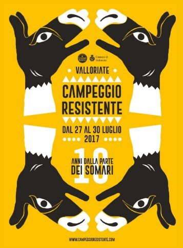 CAMPEGGIO RESISTENTE 2017 - Programma