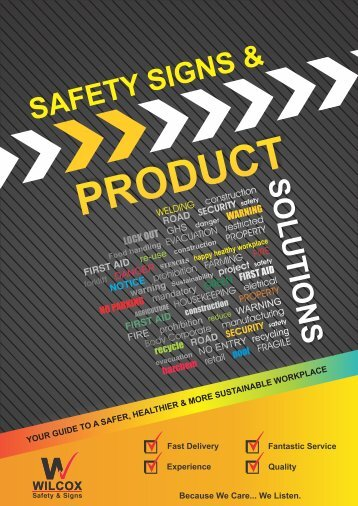Wilcox Safety & Signs - Product Catalogue