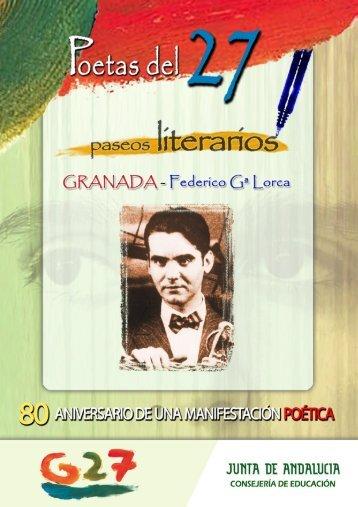 Paseo literario por Granada (pdf) - Junta de Andalucía