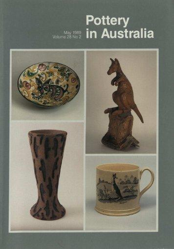 Pottery In Australia Vol 28 No 2 May 1989