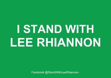 I Stand With Lee
