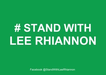 Hashtag Stand With Lee