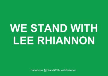 We Stand With Lee