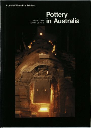 Pottery In Australia Vol 28 No 3 August 1989