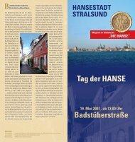 Tag der HANSE 19. Mai 2007 - Hansestadt Stralsund