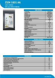 KitchenAid ZSIN 1801 AA - ZSIN 1801 AA EN (F100928) Product data sheet