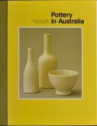 Pottery In Australia Vol 29 No 1 February-April 1990