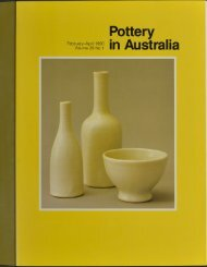 Pottery In Australia Vol 29 No 1 February-April 1990