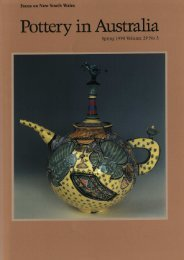 Pottery In Australia Vol 29 No 3 Spring 1990