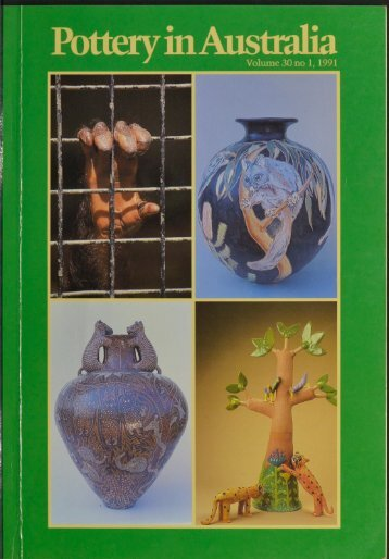 Pottery In Australia Vol 30 No 1 1991