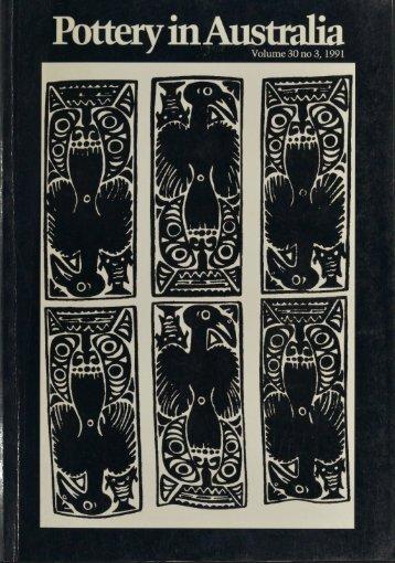 Pottery In Australia Vol 30 No 3 1991