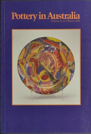 Pottery In Australia Vol 31 No 2 Winter 1992