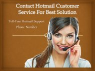 Hotmail Customer Care Contact Number UK