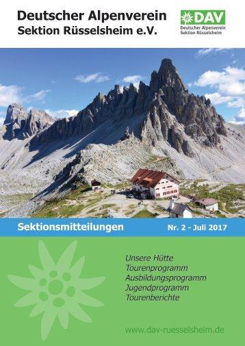 DAV Rüsselsheim Sektionsmitteilungen Nr. 2 2017