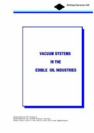 VACUUM SYSTEMS IN THE EDIBLE OIL INDUSTRIES VACUUM ...