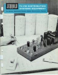 Jerrold TV-FM Distribution Systems Equipment Catalog + pricing