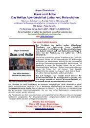 Usus und Actio - Luther in Braunschweig