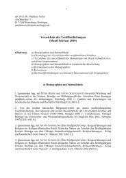 Verzeichnis der Veröffentlichungen (Stand Februar 2010)