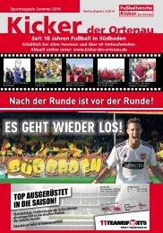 Kicker der Ortenau Sommer 2014/2015