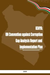 Kenya: UN Convention against Corruption Gap Analysis Report