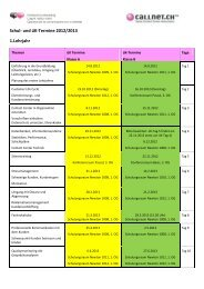 Schul- und üK-Termine 2012/2013 1.Lehrjahr