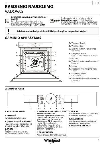KitchenAid OAKZ9 7961 SP IX - OAKZ9 7961 SP IX LT (859991535560) Setup and user guide