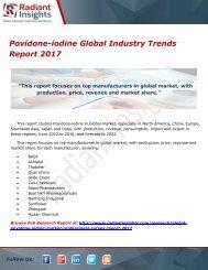 Povidone-iodine Global Industry Trends Report 2017