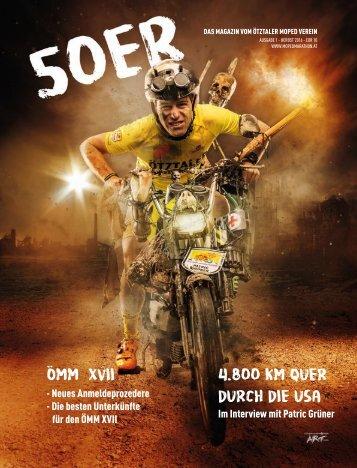 Ötztaler Mopedmarathon Vereinsmagazin 50er Ausgabe 1