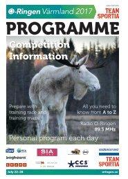 Programme O-Ringen Värmland 2017
