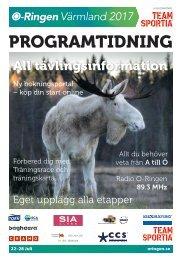 Programtidning O-Ringen Värmland 2017