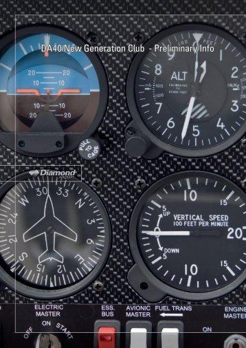 DA40 New Generation Club - Preliminary Info - Diamond Aero
