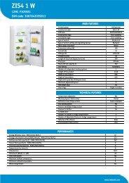 KitchenAid ZIS4 1 W - ZIS4 1 W EN (F105581) Product data sheet