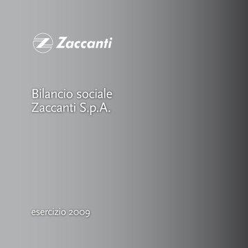 Bilancio sociale Zaccanti SpA - GRUPPO GIOVANI IMPRENDITORI ...