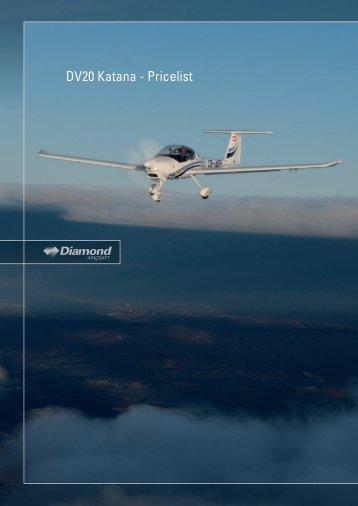 DV20 Katana - Pricelist - Diamond Aero